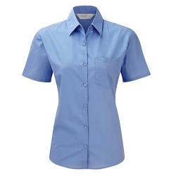 Camisa Manga Curta Popeline Senhora - 65% Poliéster / 35% Algodão