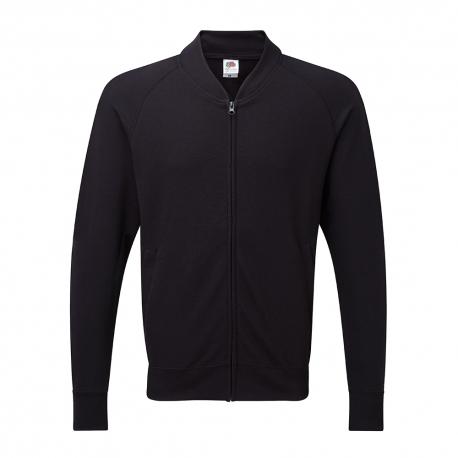 Sweatshirt Lightweight Baseball Jacket 240g - 80% Algodão / 20% Poliéster