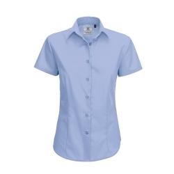 Camisa Manga Curta B&C Smart Senhora - 65% Poliéster / 35% Algodão escovado - Popeline