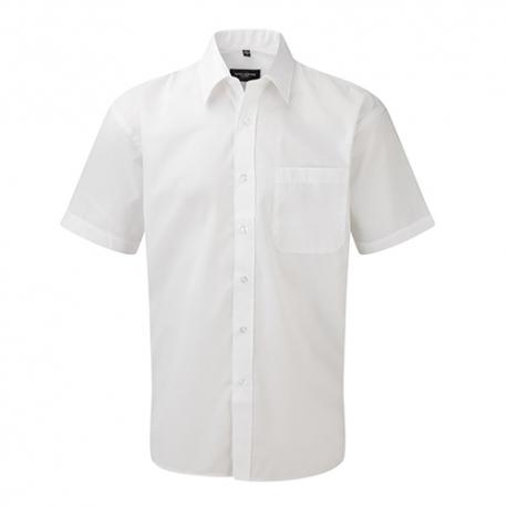 Camisa Manga Curta Popeline Homem - 65% Poliéster / 35% Algodão