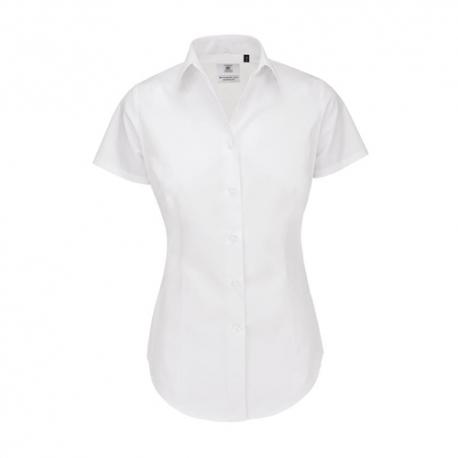 Camisa Manga Curta B&C Heritage Senhora - 100% Algodão escovado - Popeline