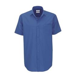 Camisa Manga Curta B&C Heritage Homem - 100% Algodão escovado - Popeline