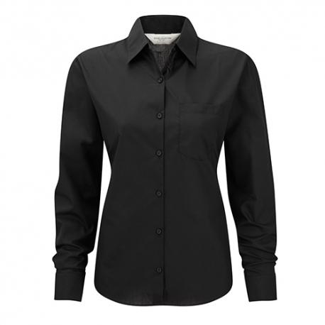 Camisa Manga Comprida Popeline Senhora - 65% Poliéster / 35% Algodão