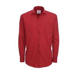 Camisa Manga Comprida B&C Smart Homem - 65% Poliéster / 35% Algodão escovado - Popeline