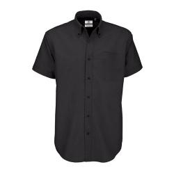 Camisa Manga Curta B&C Oxford Homem - 70% Algodão escovado / 30% Poliéster