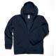 Casaco Sweat B&C Hooded Full Zip Kids 280g - 80% Algodão escovado / 20% Poliéster