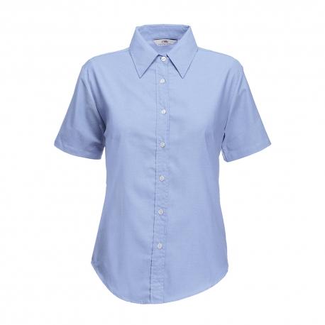 Camisa Manga Curta Oxford Lady-fit - 70% Algodão / 30% Poliéster