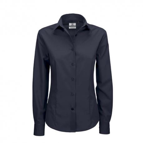 Camisa Manga Comprida B&C Smart Senhora - 65% Poliéster / 35% Algodão escovado - Popeline