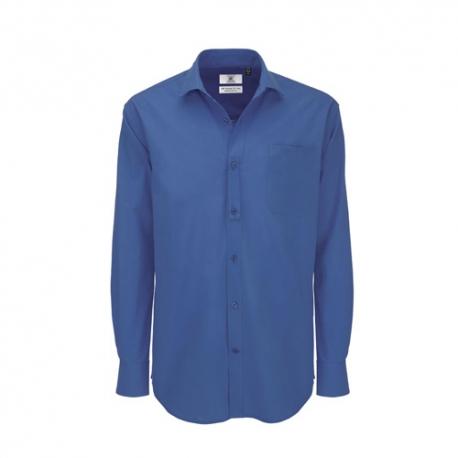 Camisa Manga Comprida B&C Heritage Homem - 100% Algodão escovado - Popeline