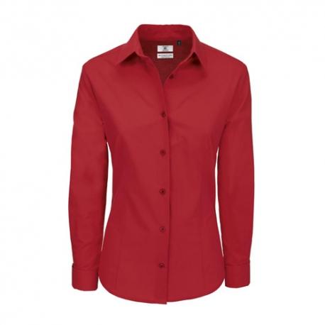 Camisa Manga Comprida B&C Heritage Senhora - 100% Algodão escovado - Popeline