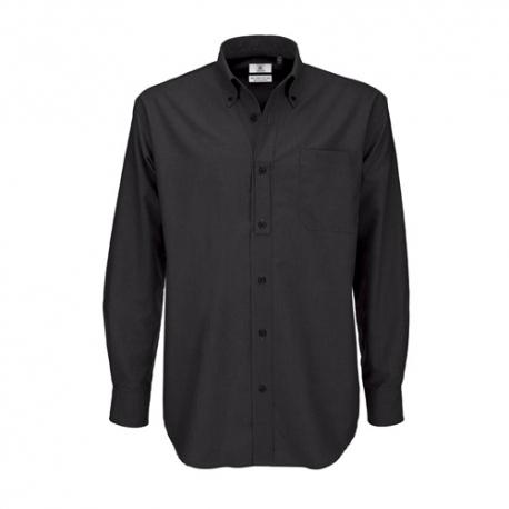 Camisa Manga Comprida B&C Oxford Homem - 70% Algodão escovado / 30% Poliéster