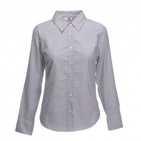 Camisa Manga Comprida Oxford Lady-fit - 70% Algodão / 30% Poliéster