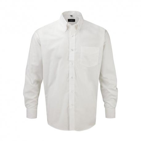 Camisa Manga Comprida Oxford Homem - 70% Algodão / 30% Poliéster