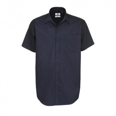 Camisa Manga Curta B&C Sharp Homem - 100% Algodão escovado - Sarja