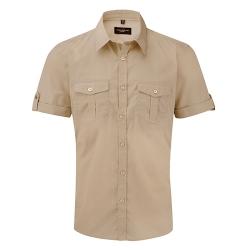Camisa Manga Curta Homem - 100% Sarja - Algodão