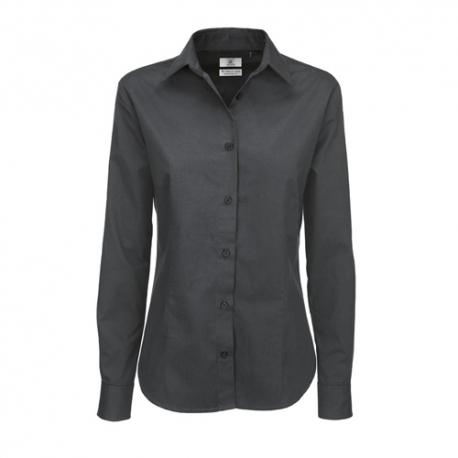 Camisa Manga Comprida B&C Sharp Senhora - 100% Algodão escovado - Sarja