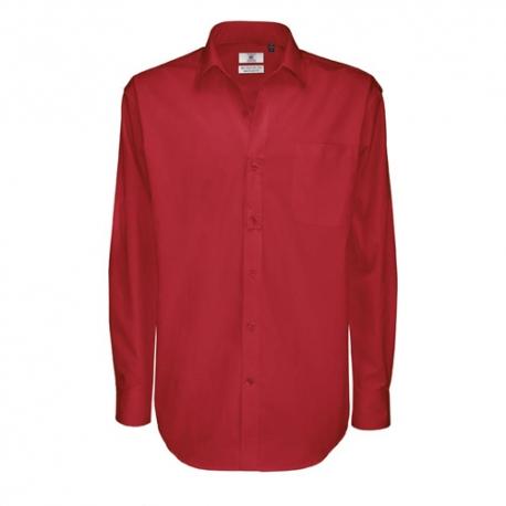 Camisa Manga Comprida B&C Sharp Homem - 100% Algodão escovado - Sarja