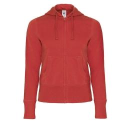 Casaco Sweat B&C Hooded Full Zip Women 280g - 80% Algodão escovado / 20% Poliéster