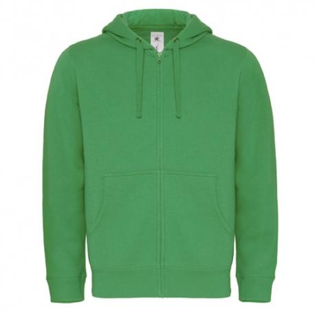 Casaco Sweat B&C Hooded Full Zip 280g - 80% Algodão escovado / 20% Poliéster