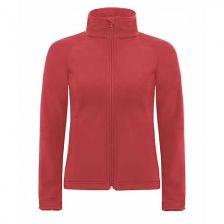 Parka B&C Hooded Softshell Women - 94% Poliéster impermeável / 6% Elastano