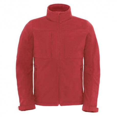 Parka B&C Hooded Softshell - 94% Poliéster impermeável / 6% Elastano