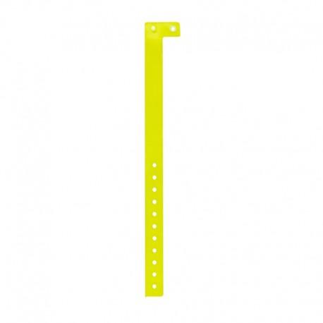 Pulseira de identificação inviolável fluorescente em vinil