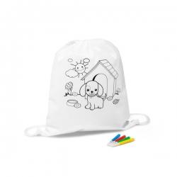 Saco tipo mochila para colorir