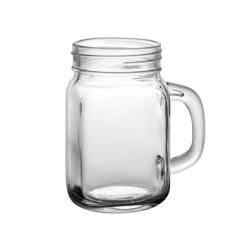 Frasco em vidro, com asa