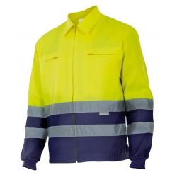 Blusão bicolor alta visibilidade