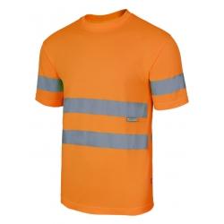 T-shirt alta visibilidade de manga curta