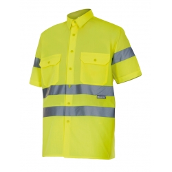 Camisa alta visibilidade manga curta