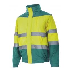 Blusão bicolor alta visibilidade acolchoado Tamanho S-3XL