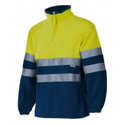 Camisola polar bicolor alta visibilidade