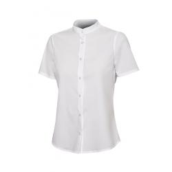 Camisa gola mao stretch manga curta mulher