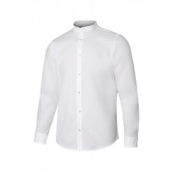 Camisa gola mao stretch manga comprida homem
