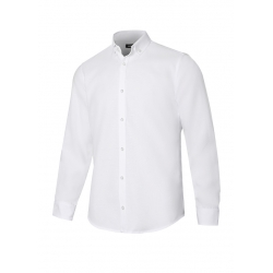 Camisa oxford stretch manga comprida homem