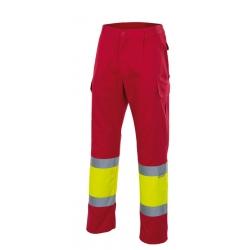 Calça bicolor alta visibilidade forrada