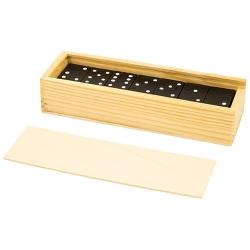 Dominó com caixa, de madeira