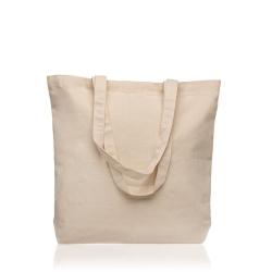 Saco em 100% algodão canvas, com bolso interior