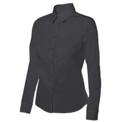 Camisa mulher cintada de manga comprida