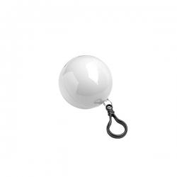 Poncho dentro de bola em PE, com mosquetão