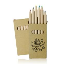 Conjunto de 6 lápis de cor