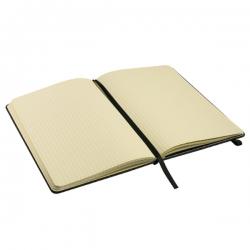 Bloco de notas A5, com capa em cartão e bolsa