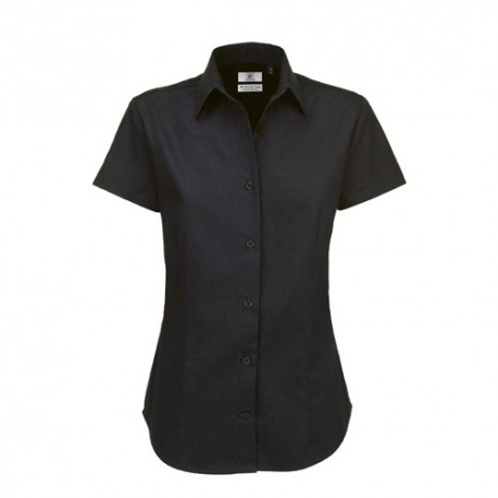 Camisa Manga Curta B&C Sharp Senhora - 100% Algodão escovado - Sarja