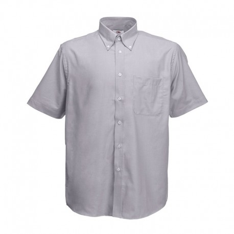 Camisa Manga Curta Oxford - 70% Algodão / 30% Poliéster